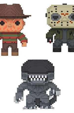 Figuras de vinilo de terror de 8 bits