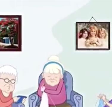 Tres hermanas de edad avanzada